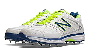 New Balance CK4030AG Cricket Spikes , 13.5 UK (White/Blue/Fluo Yellow)