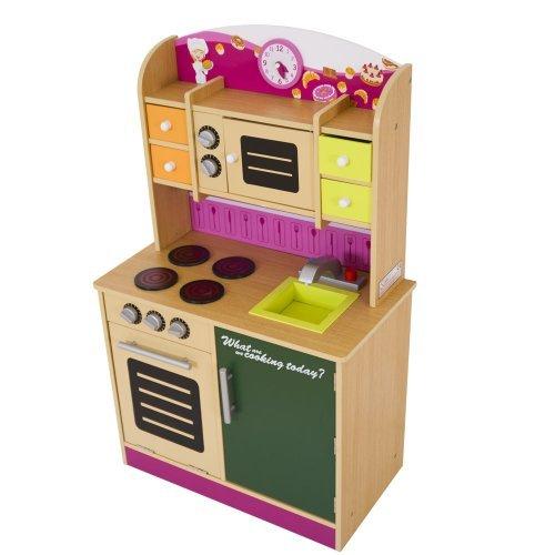 Infantastic® - Cocina de juguete de madera aprox. 61 x 33 x 100 cm