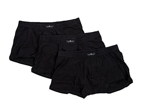 TOM TAILOR Herren Retroshorts, 3er Pack Schwarz