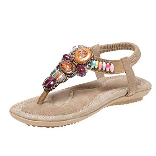 SANFASHION Bekleidung SANFASHION Damen Schuhe 144155, Sandali Donna Multicolore Multicolore, Multicolore (Cachi), 38 EU