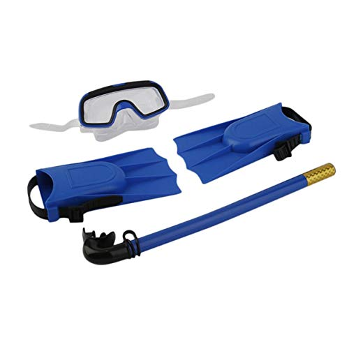 LoveOlvidoE Snorkeling Máscara de Buceo Tubo de respiración Largas Aletas Foot Flippers 3 Piezas Snorkels Set Swimming Pool Equipment 1 Set
