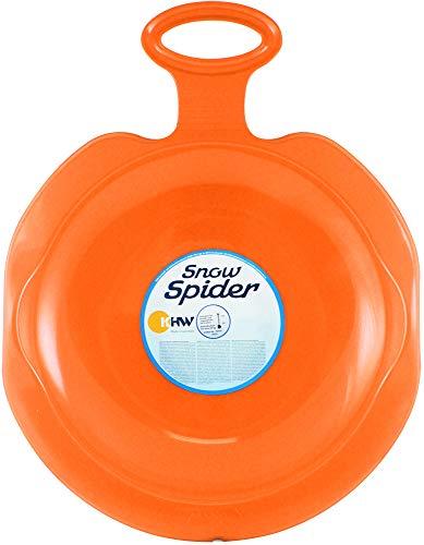 com-four® Voie 1 Snow Spider avec Bord Large et poignées encastrées pour Plus de sécurité en Orange (Porutscher - 01 pièces Orange)