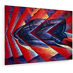 Luigi Russolo - Automobil in Corsa - 80x60 cm - Leinwandbild auf Keilrahmen - Wand-Bild - Kunst, Gemälde, Foto, Bild auf Leinwand - Alte Meister/Museum