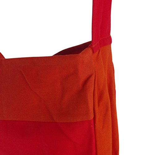 Borsa da spiaggia im Tote Bag stil| Shopping Borsa | Tote Bag stile | 45x 40cm | 12litri | inhoma24WOW Borsa da spiaggia | 100% cotone | lavabile e intemperie, Tela, Blumenmotiv Rosen in rosa, 45  Arancione/Rosso