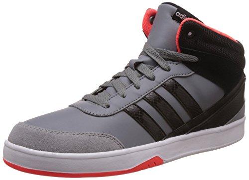 adidas neo Men's Park St Kflip Mid Grey, Cblack and Solred Sneakers - 11 UK/India (46 EU)