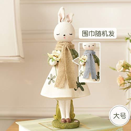 Familykelpe soprammobili coniglio regalo accessori per la casa artigianato ornamenti decorativi, b