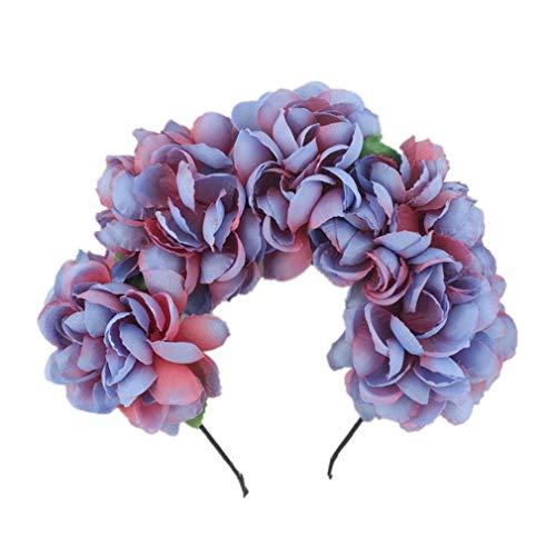Luau Frisuren - Yesiidor Flower Headwear Halloween Haarkranz Braut