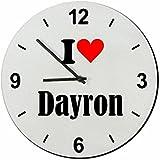 """EXCLUSIVO: Vidrio de reloj """"I Love Dayron"""" una gran idea para un regalo para su pareja, colegas y muchos más! - reloj, Regaluhr, Regalo, Amo, Made in Germany."""