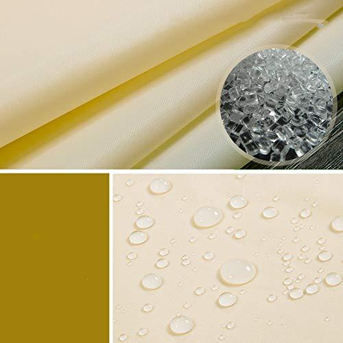 oppinty Duschvorhang Set frei stanzen wasserdicht verdickung mehltau Bad Vorhang Tuch partition duschvorhang 2X1.8 hoch beige ‖ 2,0 m Pole [Send Hook]