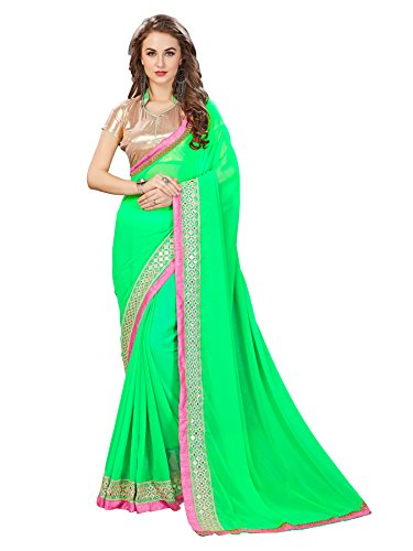 Glory Sarees Georgette Saree (Vg Green_Green)