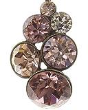 Konplott Halskette Petit Glamour | Kette mit Anhänger für Damen und Mädchen | Anhänger mit 6 Glitzer-Steinen von Swarovski Elements in Rosé