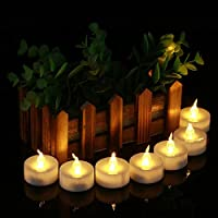 PENVEAT 12 pcs Warm White Yellow Battery-operated Electric Candle Flameless cirio led Tea Light Candle For Valentine