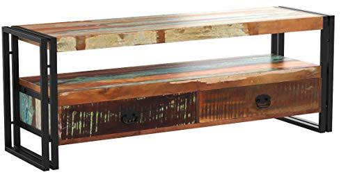 TV-Schrank Fernsehtisch Fernsehschrank HiFi Lowboard Massivholz Vintage Antik