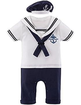 Mombebe Baby Jungen 2 Stücke Matrose Kostüm Strampler with Hüte