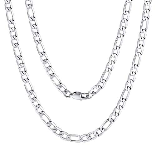 ale Alphabet Buchstaben ohne Anhänger Edelstahl Halskette für Damen Herren Farbe Silber mit 30