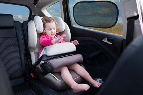 * precio introductorio. * Par de tamaño Premium Car Sun Shades | cobertura más grandes que otros 12x 20'/30,5x 51cm | Protege a tu familia y mascotas de rayos UV dañinos | Easy adherencia estática Aplicación | Incluye Funda de almacenamiento