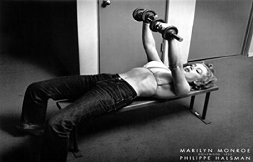 Philippe Halsman – Marilyn Monroe Hollywood (with weights) c.1952 Movie Poster (43,18 x 27,94 cm)