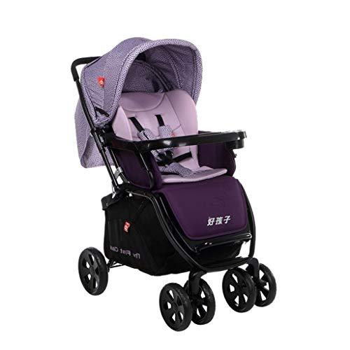 HEUFHU888 Zwei-Wege-Wagen - können sitzen können flach liegen Hochformat-Wagen, Zwei-Wege-Einstellung, bequemer Schlafkorb, Schock-Faltwagen, Sonnenschutz Carport (Farbe : F)