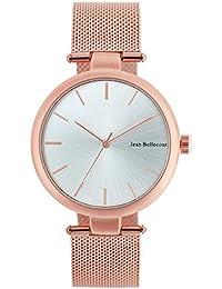 Reloj Mixta Jean Bellecour de cuarzo reloj Argente 38 mm y pulsera Rose Gold Malla jb1094