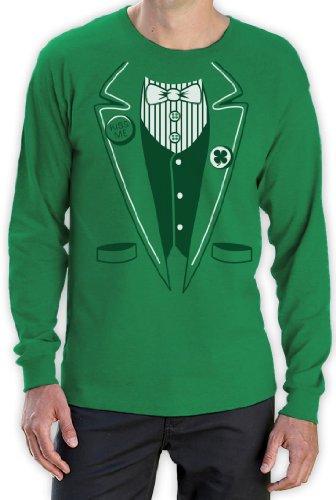 St.Patty Day Irish Tuxedo Langarm Grün Medium T-Shirt -