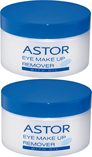 Astor Eye Make up Remover Pads with Oil – Augen-Make-up Entferner mit Öl – Für super sanftes...