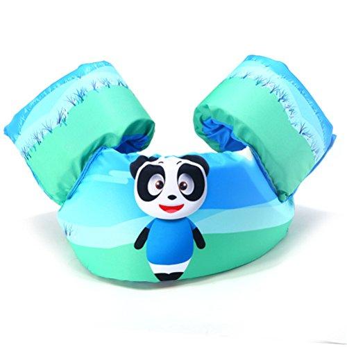 Braccioli e cintura di salvataggio, per bambino, da nuoto, gonfiabili, per piscina e nuoto, bambini da 2a 6anni, panda, S