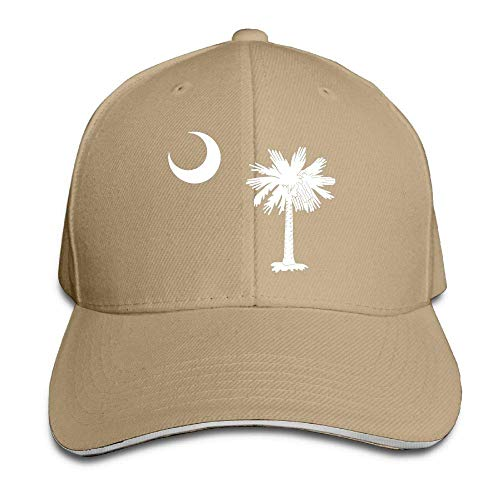 UUOnly Flaggen-Sandwich-Hut South Carolina Moom Baseballmütze-Vati-Hut