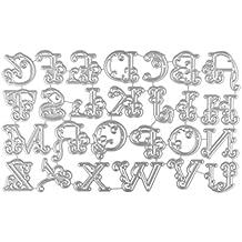 Y56 Grandes Alfabeto Letras – Troqueles Plantillas Metal DIY Artesanía Metal definen Troqueles Relieve lonen Embossing