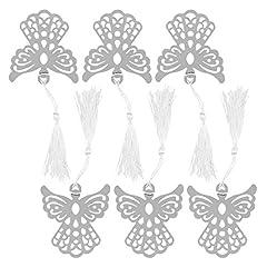 Idea Regalo - NUOLUX Favorisce Angelo segnalibro con fiocco di segnalibro - 6pcs