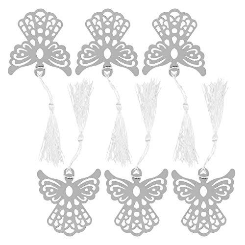 NUOLUX Favorisce Angelo segnalibro con fiocco di segnalibro - 6pcs