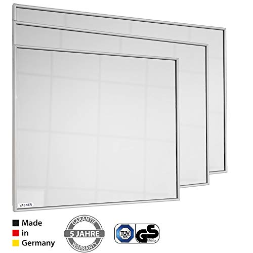 Spiegelheizung Infrarot 10 mm Alu-Rahmen 400 Watt VASNER Zipris S Flächenheizung Bild 5*