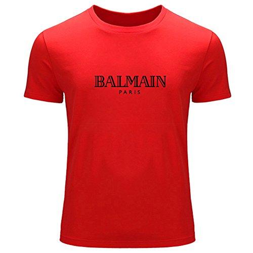 Balmain Logo Printed For Men's T-shirt Tee Outlet