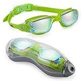 1-1 Schwimmbrille, Gespiegelt Schwimmbrille Keine undichte Anti-Fog-UV-Schutz Triathlon...
