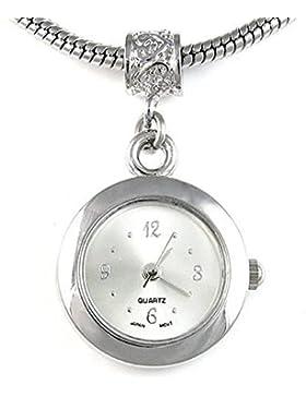 Bead Uhr für Armbänder und Ketten Farbe Silber