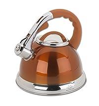 Lenox L-12182 SS Tea Kettle, 2.5-Quart, Orange