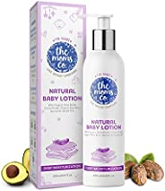 The Moms Co. Natural Baby Lotion, Australia-Certified with Organic Apricot, Organic Jojoba and Organic Rice Br