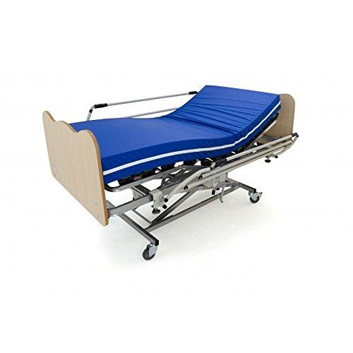 AMUEBLALO Cama articulada somier+Carro Elevador+colchón+barandillas+cabecera+piecero-Conjunto Geriatrico - 110X200