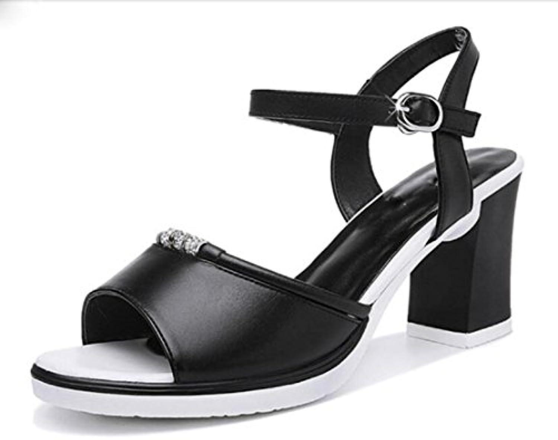 MUYII  s De Bouche De Poisson Pour Pour Poisson Femmes Chaussures à Talons Grossiers Pour Femmes New Korean Fashion Casual...B07D36KQ8VParent f9c0b4
