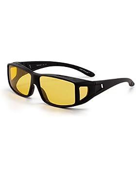 Gafas de Sol Polarizadas Fit Over Desgaste Conducción Nocturna Anteojos Hombre Mujer