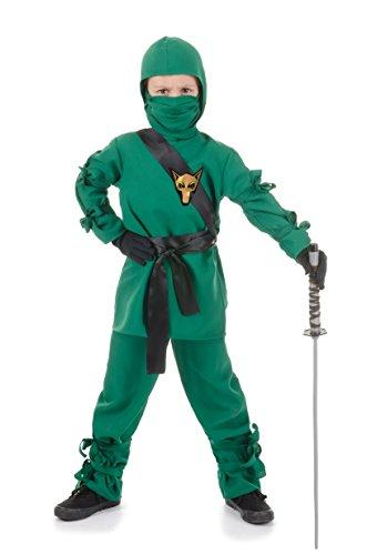 Ninja Kinder Kostüm - Größe 92-104cm - grün