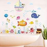 Adesivi Murali Pesce Subacqueo Bolla Per Camerette Bagno Camera Da Letto Decorazioni Per La Casa Animali Del Fumetto Adesivi Murali Fai Da Te Arte Murale
