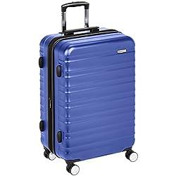 AmazonBasics Valise rigide à roulettes pivotantes de qualité supérieure avec serrure TSA intégrée - 78 cm, Bleu
