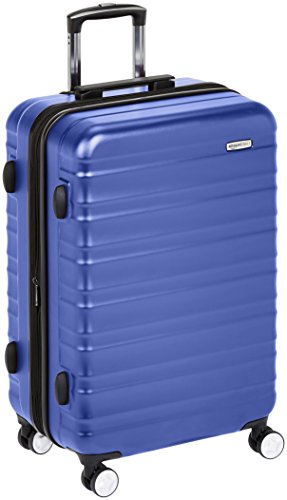 AmazonBasics - Trolley rigido Premium con rotelle pivotanti e lucchetto TSA integrato - 78 cm, Blu
