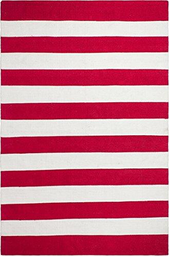 FAB HAB - Intérieur/Extérieur Pet Tapis - Nantucket Rouge & Blanc (180 cm x 270 cm)