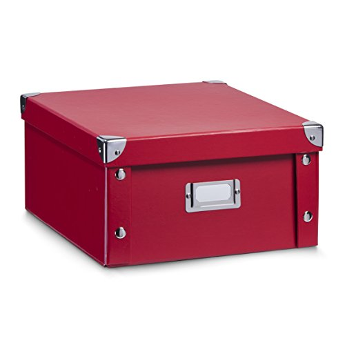 hrungsbox, Pappe, rot, ca. 31 x 26 x 14 cm (Große Kartons)