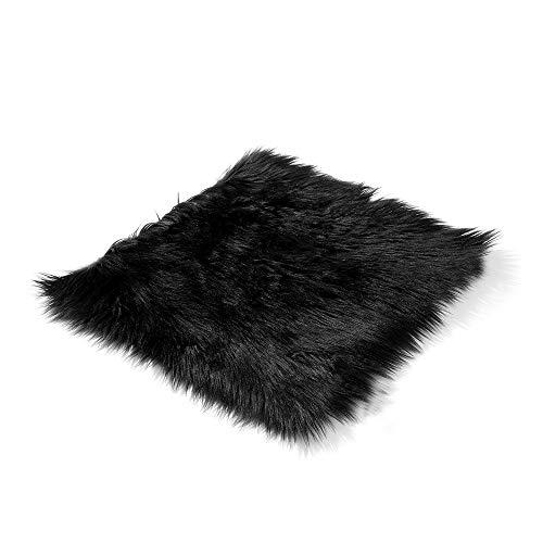 Schaffell Sitzbezug Autositz Wolle Kissen Pad 18X18 Winter Weiche Warme Vordere Sitzbezüge für Home Office Automobil Stuhl (Für Sitzbezüge Schaffell Lkw)