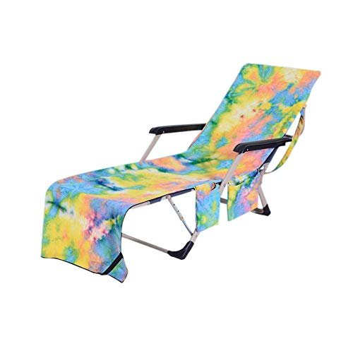 Acacia Bird Beach Chair Cover Lounge Chairs Cover Pool Lounge Chair Towel Beach Towl -Yellow