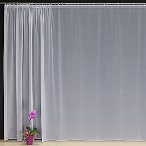 Hochwertige Fertiggardine VOILE Store mit Faltenband&Bleiband SMOKBAND 1:2,5 / 50 mm, versch. Größen, 160 x 300 cm (HöhexBreite)
