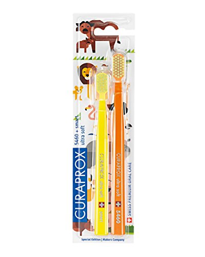 CURAPROX cs5460Limited Edition Duo, Animal Familie