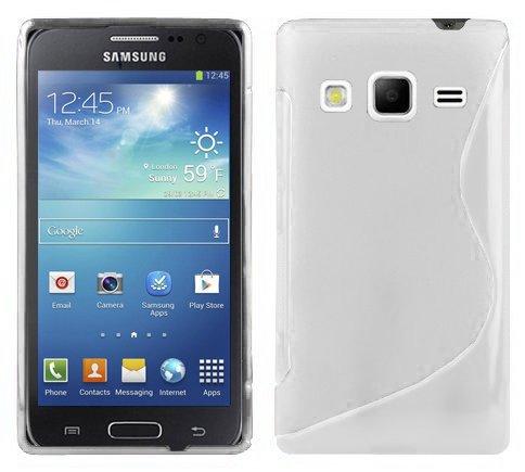 Preisvergleich Produktbild Cadorabo Hülle kompatibel mit Samsung Galaxy Express 2 Hülle in Magnesium WEIß Handyhülle aus flexiblem TPU Silikon im S-Line Silikon Schutzhülle